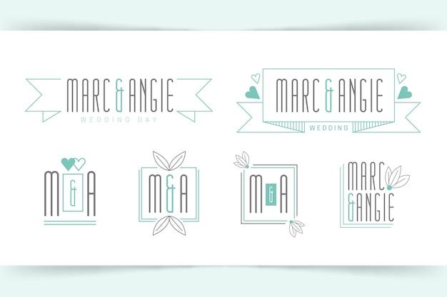 Monogrammes de mariage chic