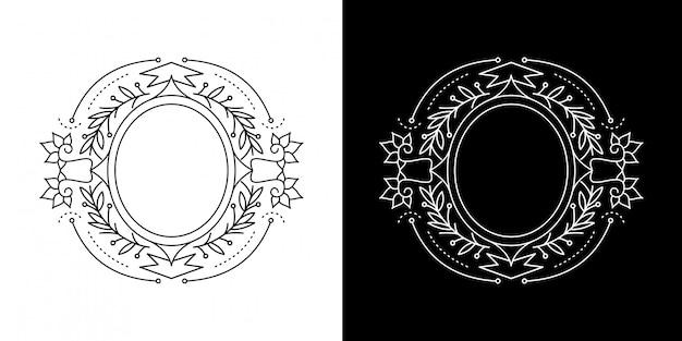 Monoline vintage cadre cercle