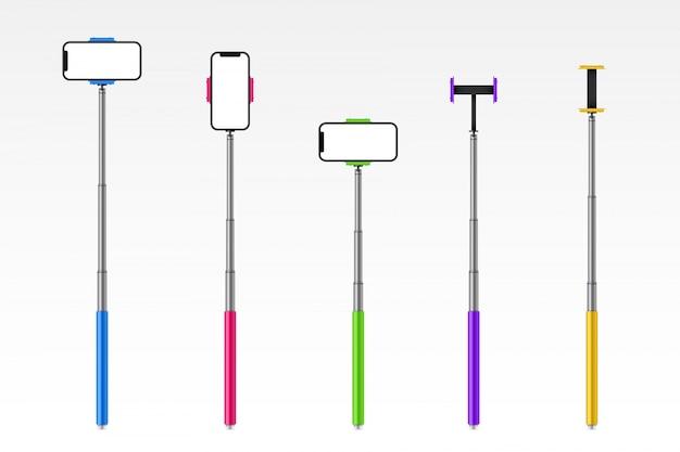 Monopod selfie bâton avec téléphone