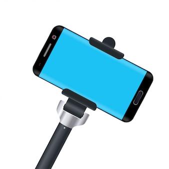 Monopode avec téléphone