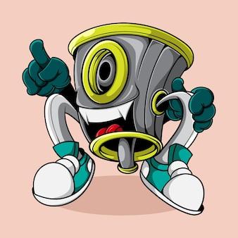 Monster cap graffiti caracter