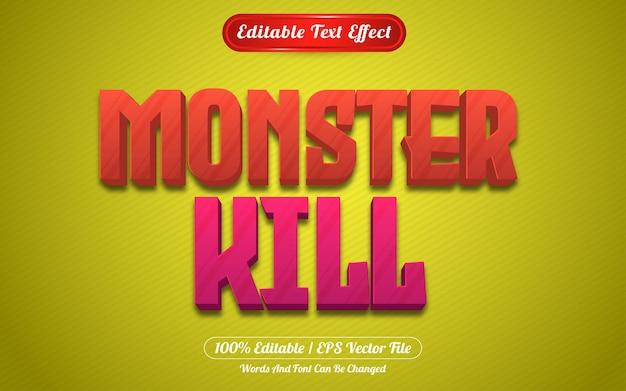 Monster kill style de jeux à effet de texte modifiable