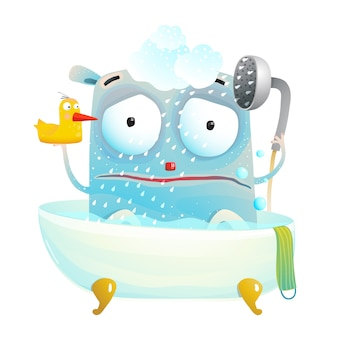 Monster sad shower