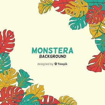 Monstera laisse les coins de fond