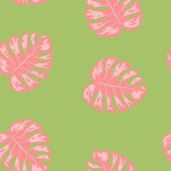 Monstera tropical laisse l'été modèle sans fin. imprimé exotique pour maillots de bain. floral pattern sans soudure.