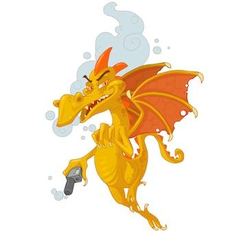 Monstre, dragon, fumer, vaping