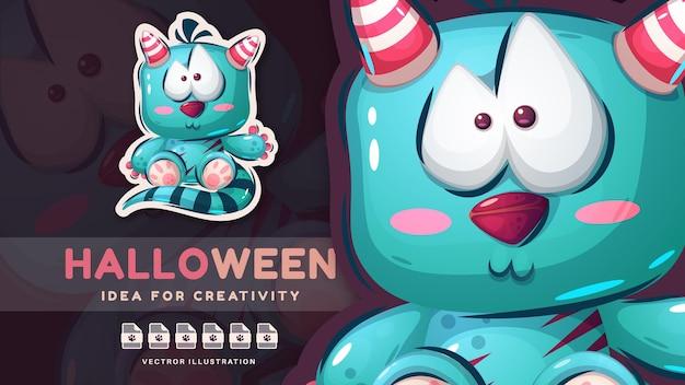 Monstre d'halloween enfantin de personnage de dessin animé
