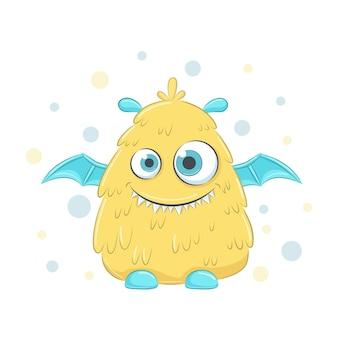 Monstre mignon bébé jaune
