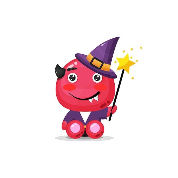 Monstre de sorcière mignon