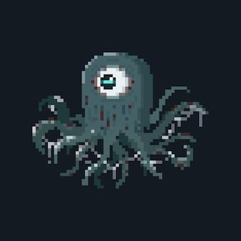 Monstre tentacule pixel art avec effet slime