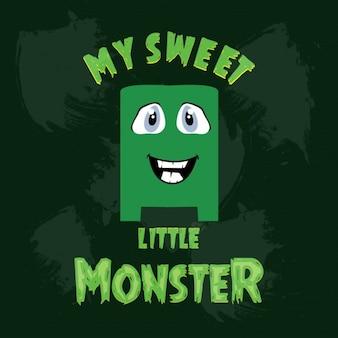 Monstre vert mignon