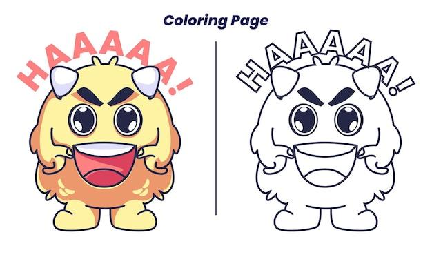 Les monstres bondissent avec des pages à colorier