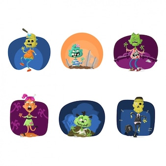 Monstres halloween collection