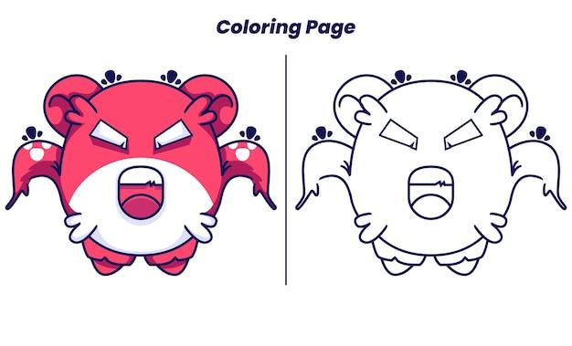 Des monstres mignons bondissent avec des pages à colorier