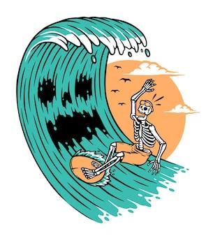 Les monstres de la vague attaquent les surfeurs