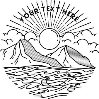 Montagne océan lever du soleil