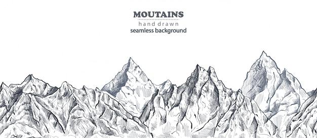 Montagnes fond dessiné à la main
