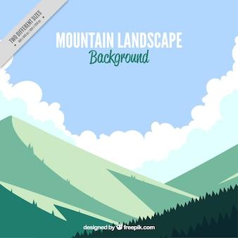 Montagnes et forêts de fond