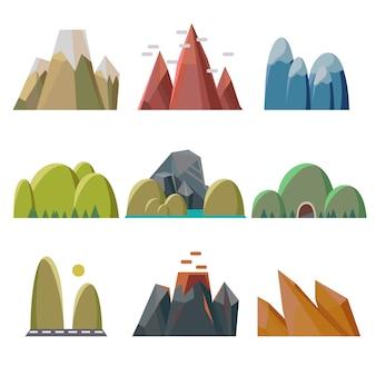 Montagnes isolées