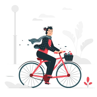 Monter une illustration de concept de vélo