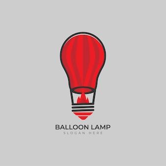 Montgolfière et lampe logo