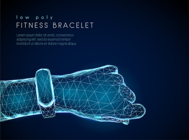 Montre intelligente de fitness sport abstrait sur la main des hommes