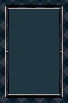 Monture tartan bleu marine
