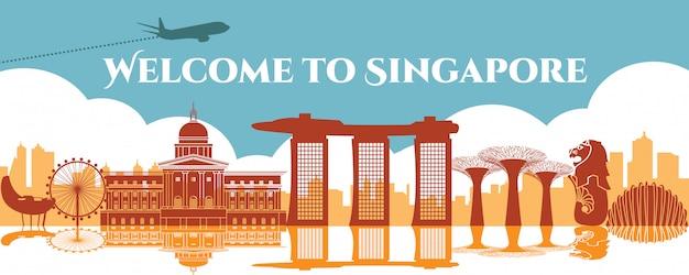 Monument célèbre de singapour