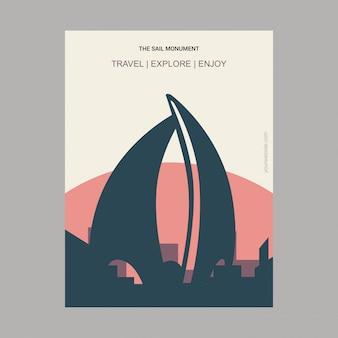 Le monument de voile manama, bahrain landmark poster
