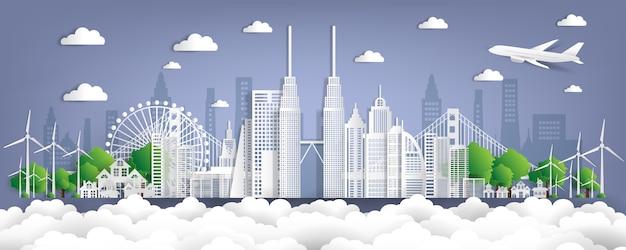 Monuments célèbres de la malaisie en papier coupé illustration vectorielle style