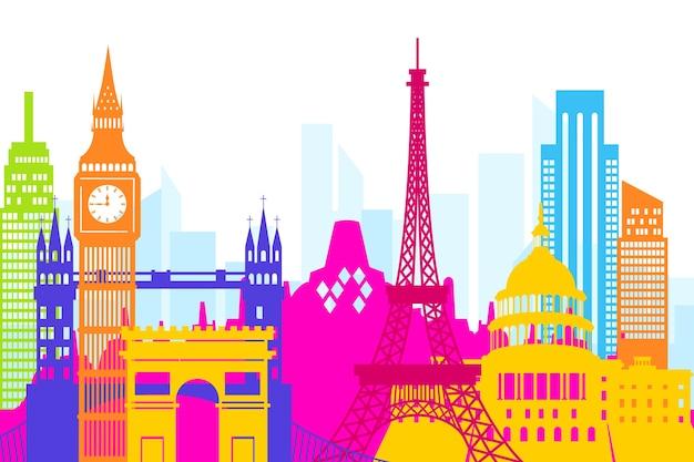 Monuments colorés skyline
