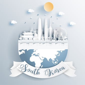 Monuments de la corée du sud sur la terre