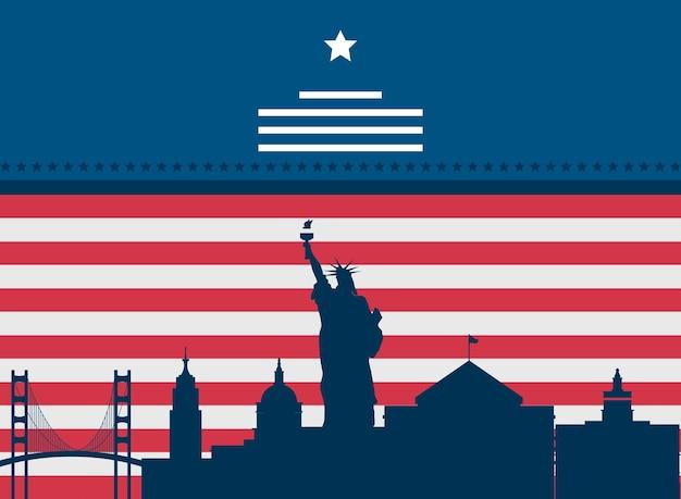 Monuments du drapeau américain célèbres
