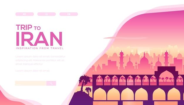 Monuments iraniens, persans et attractions touristiques: arcs, mausolée, mosquées, autre architecture.