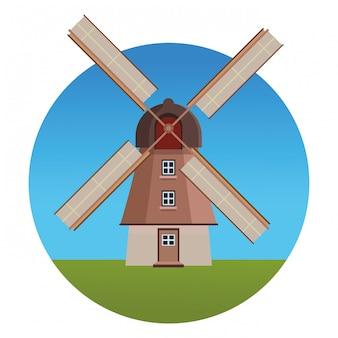 Monuments de moulins hollandais