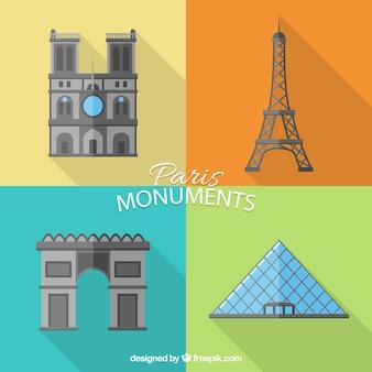 Monuments de paris emballent