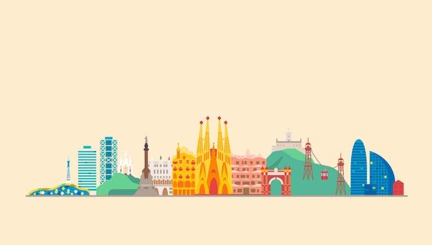 Monuments de voyage de la ville de barcelone