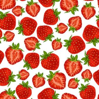 Moquette transparente aux fraises