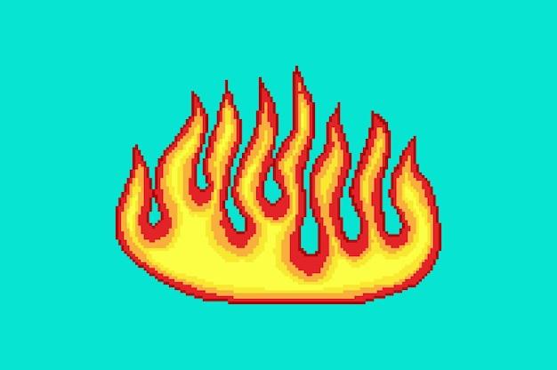 Morceau d'art de feu de pixel