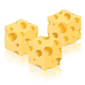 Morceau de fromage vector illustration