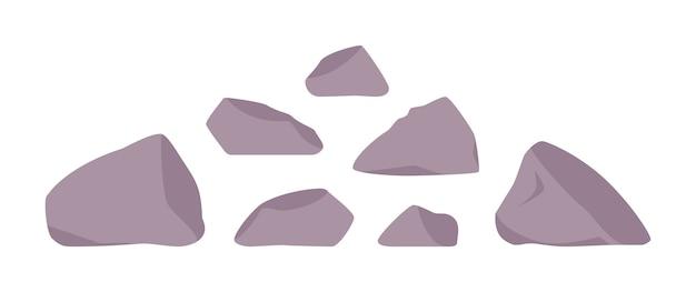 Morceau de pierre détaché d'une falaise o