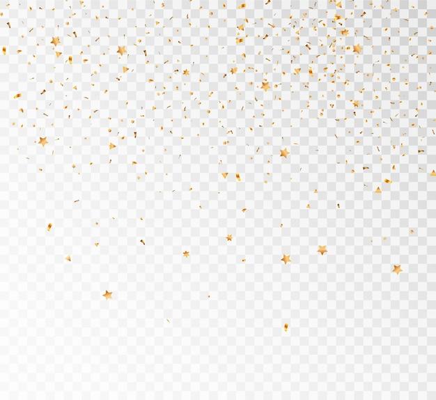 Morceaux d'étoiles qui tombent