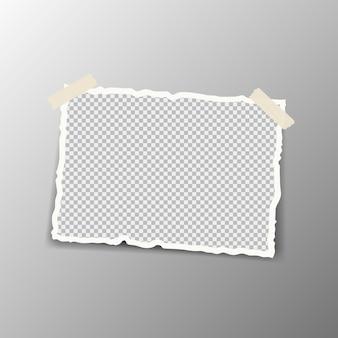 Morceaux de résumé de papier blanc déchiré