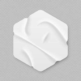 Morceaux de ruban de masquage avec bords déchirés style réaliste collection de formes 3d réalistes sticky paper