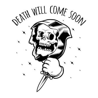 La mort avec un poignard
