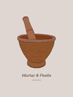 Mortier et pilon.