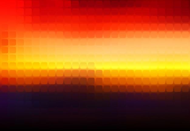 Mosaïque arrondie abstraite violet orange jaune rouge brun