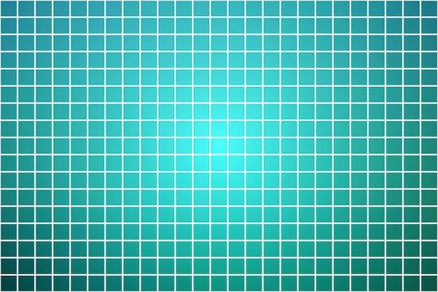 Mosaïque carrée nuances turquoises sur blanc