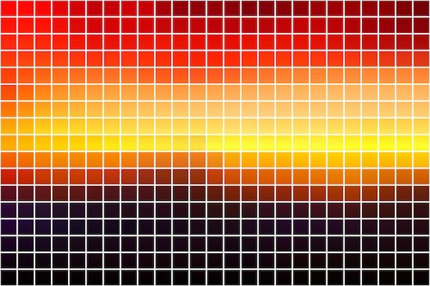Mosaïque carrée violet orange jaune rouge brun sur blanc
