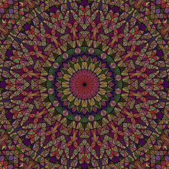 Mosaïque carrelée ronde dynamique abstraite colorée